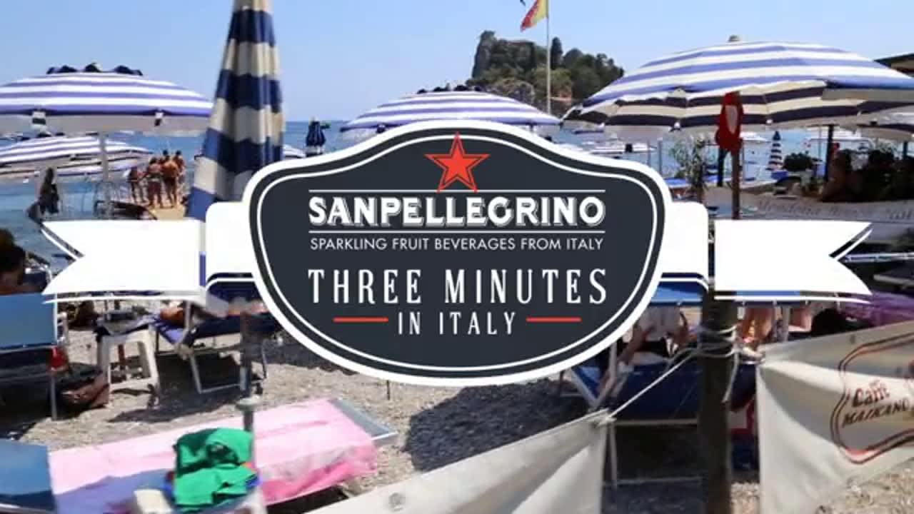 SanPellegrino Sparkling Fruit Beverages, Three Minutes in Italy