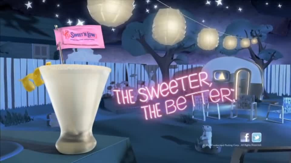 Sweet 'n' Low. The sweeter the better.