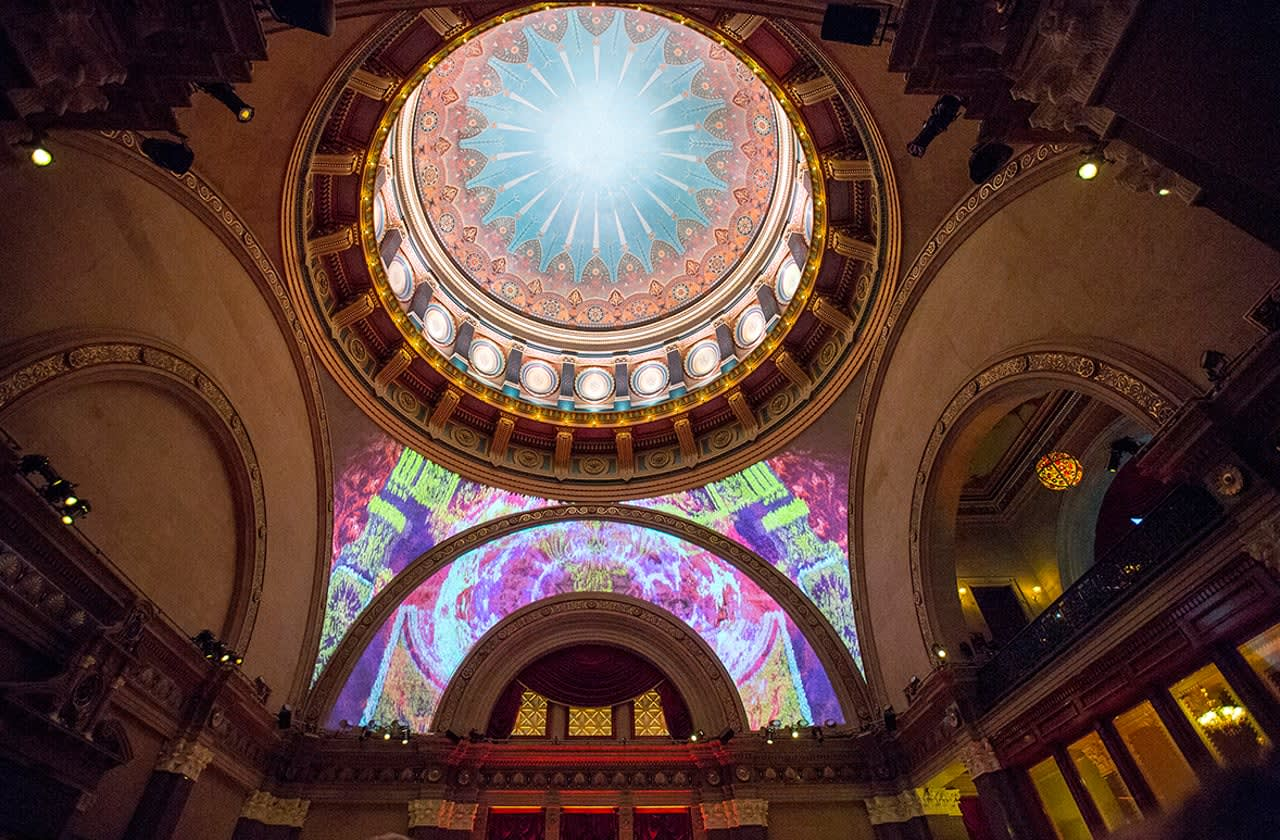 Projection mapping for the Beaux Arts Ball
