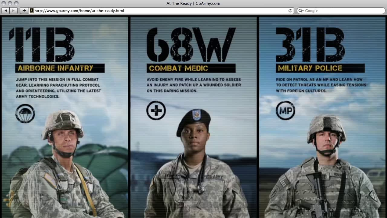 U.S. ARMY — AT THE READY EXPERIENCE