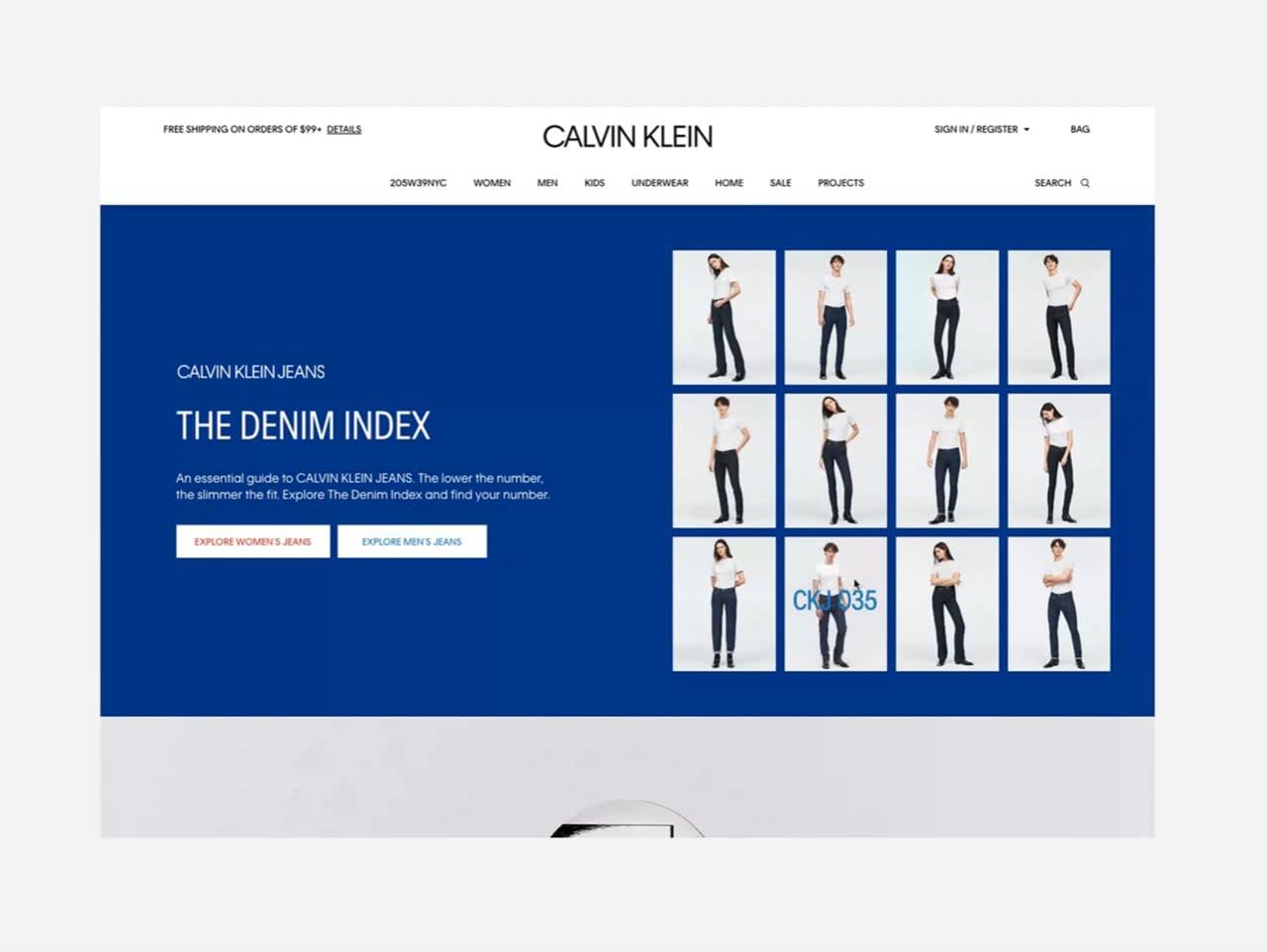 Calvin Klein Jeans - Denim Index