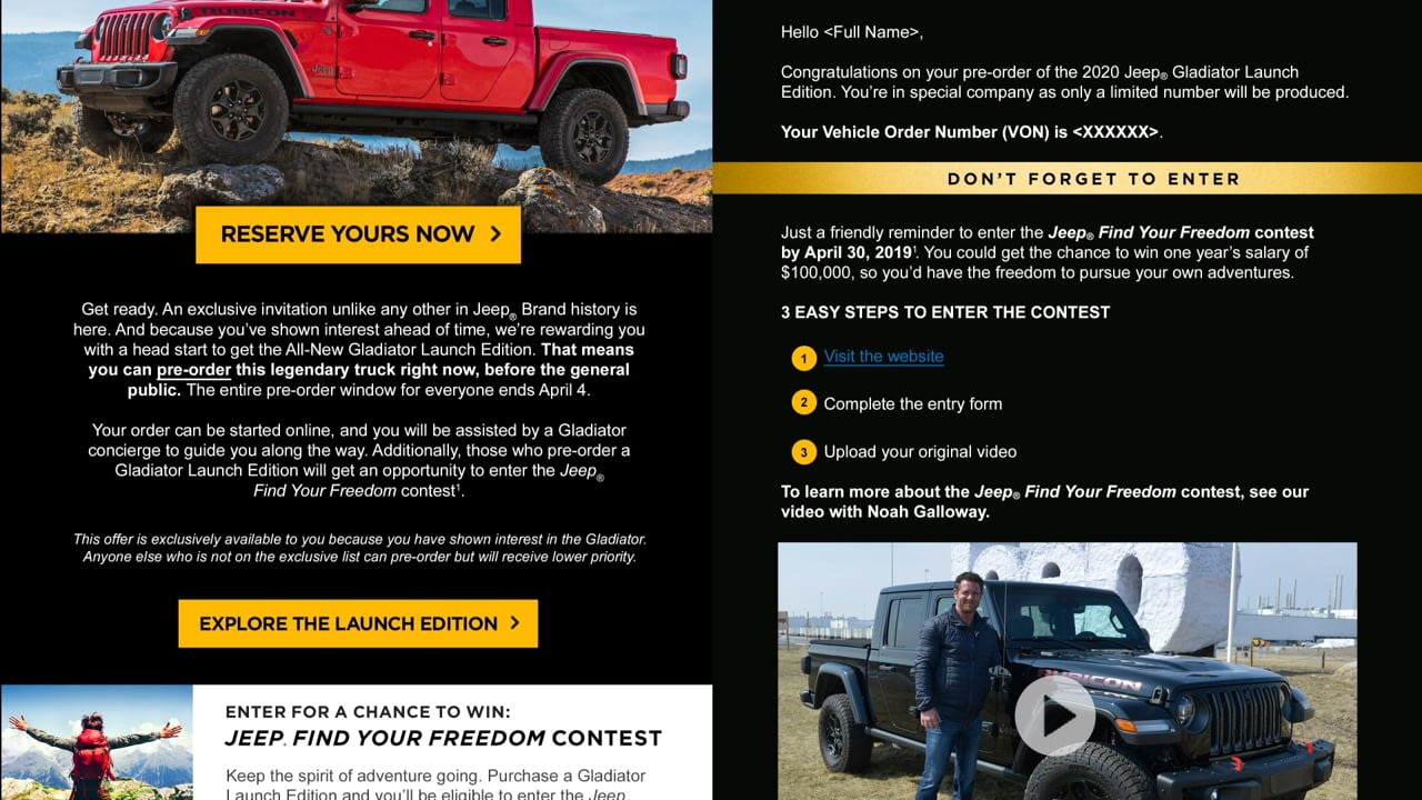 """""""Find Your Freedom"""" Jeep Gladiator Launch"""