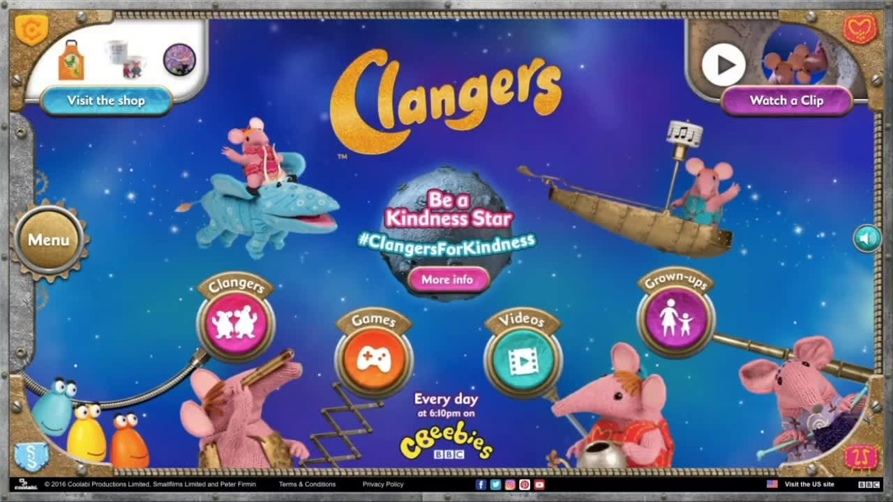Website and Games - Clangers