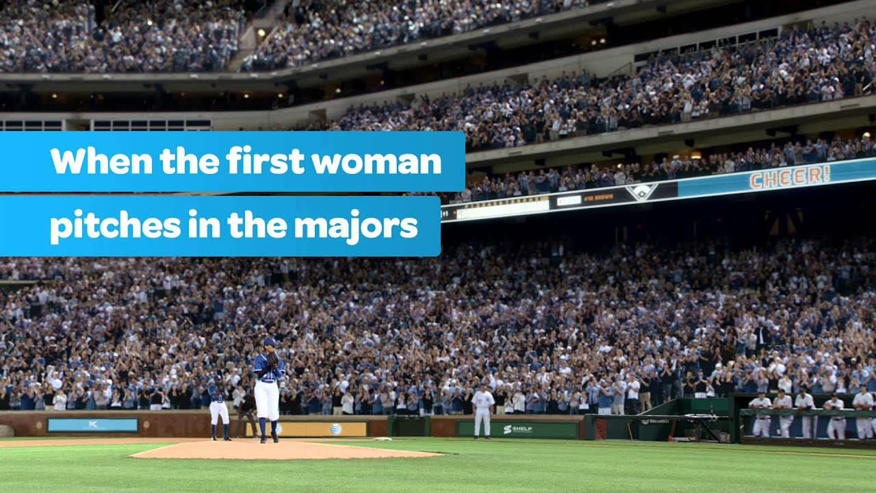 AT&T U-verse: First Female Pitcher