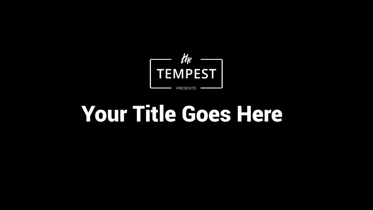 Full Logo + Title Animation - The Tempest