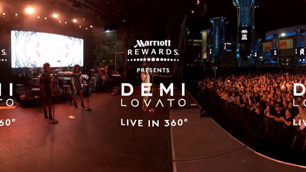 """Demi Lovato, """"Body Say,"""" Live in 360"""