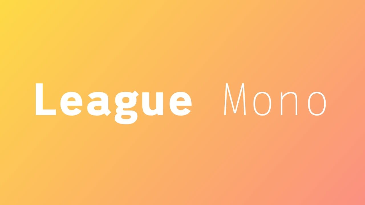 League Mono - Open Source Typeface