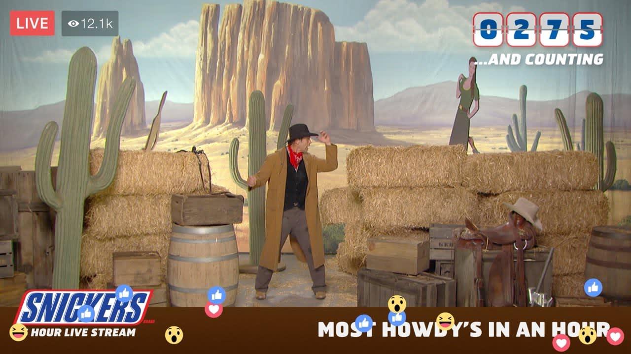 Snickers Superbowl 36-hour Livestream