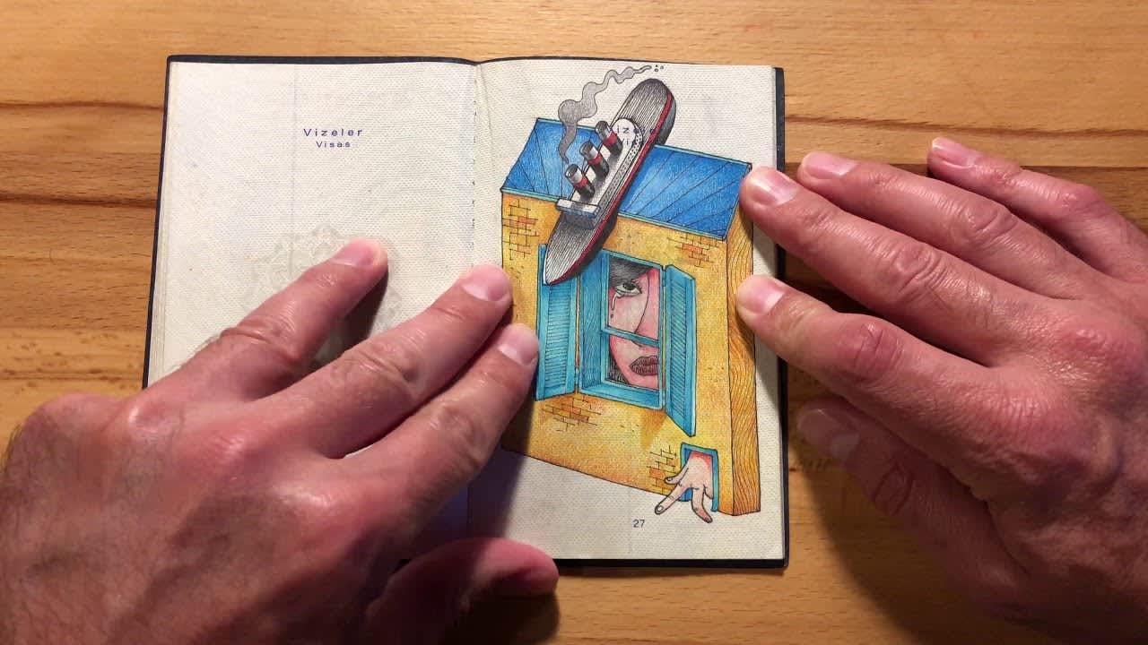 Old Passport New Sketchbook