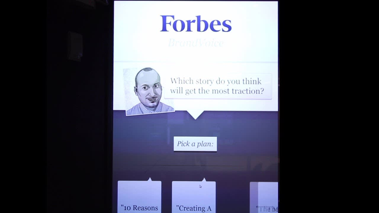 Forbes BrandVoice Physical Installation