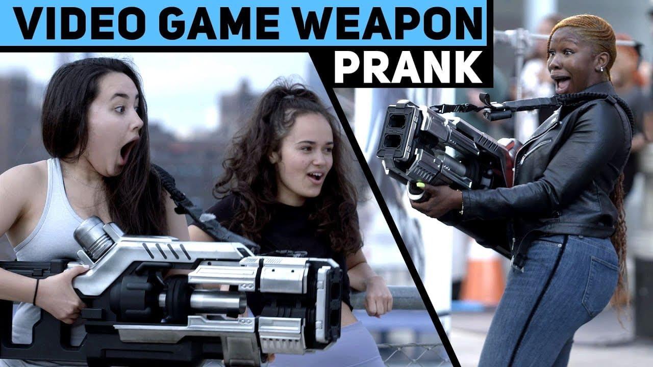 Video Game Weapon Prank