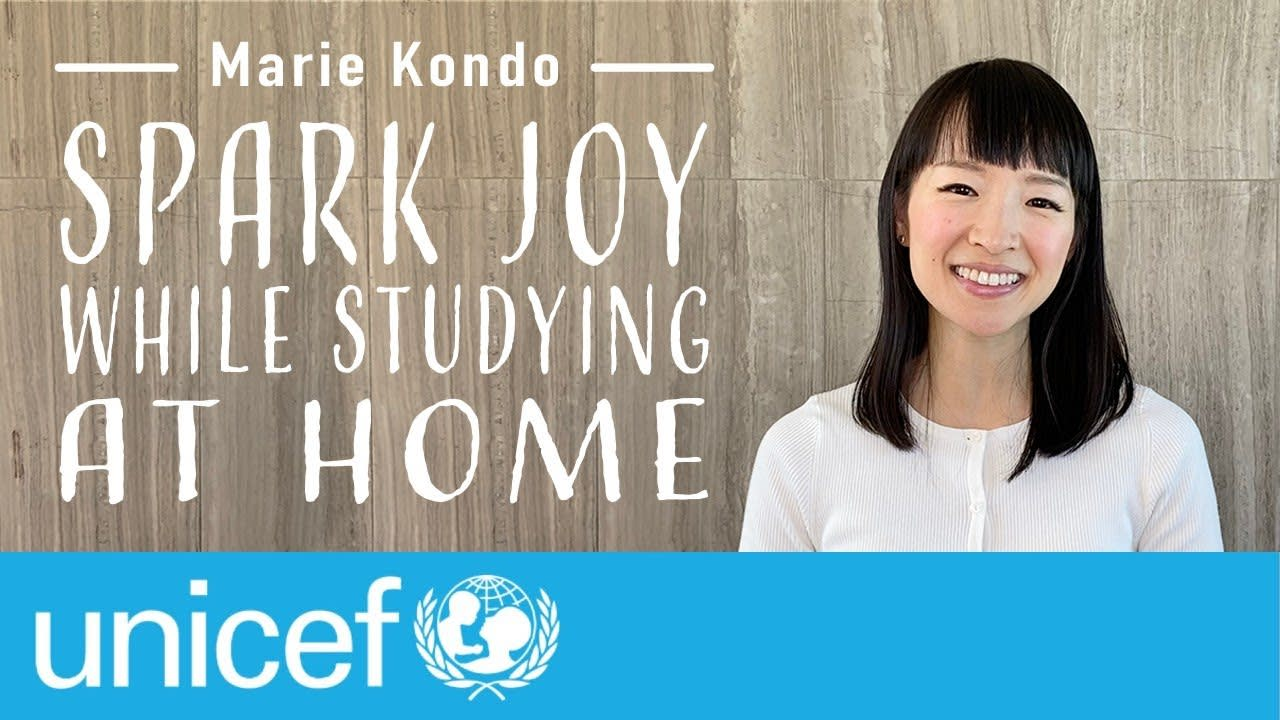 Marie Kondo - Spark Joy While Studying at Home   UNICEF