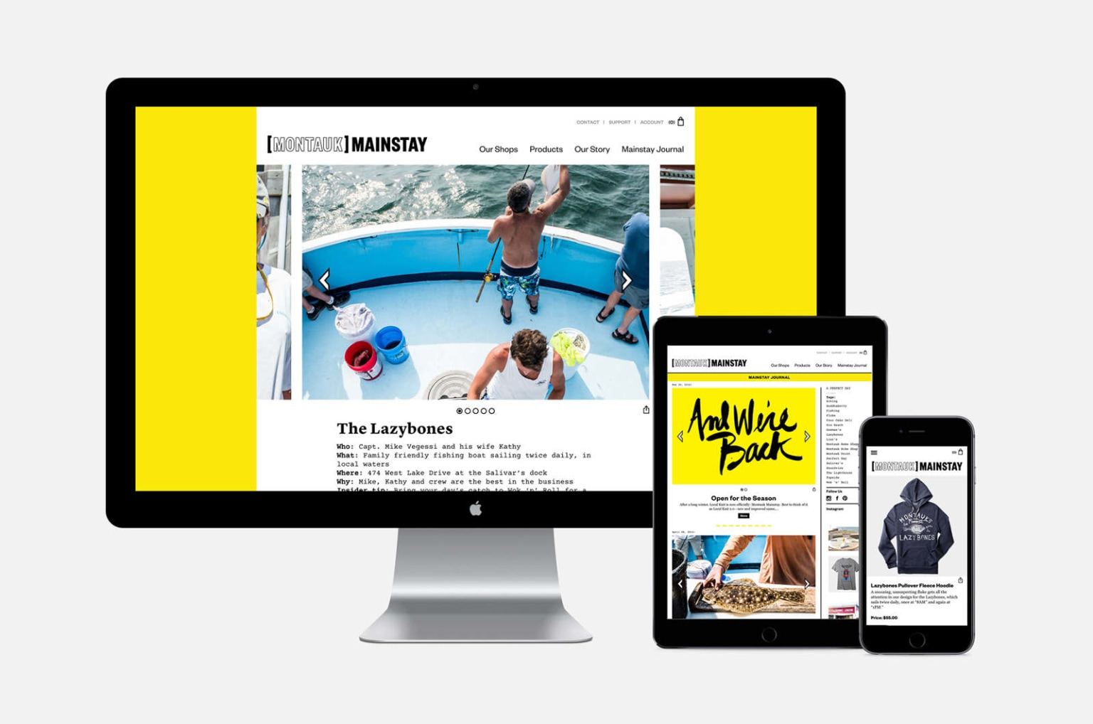 Montuak Mainstay Identity & E-Commerce Website