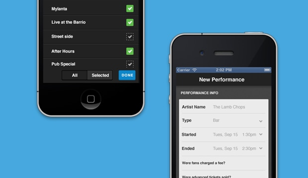 ASCAP - OnStage Mobile App