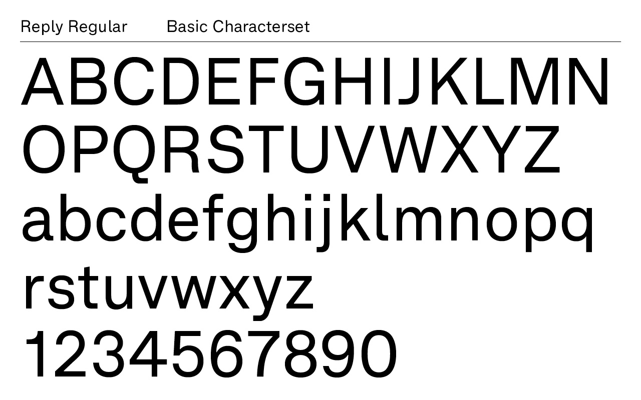 Reply Typeface