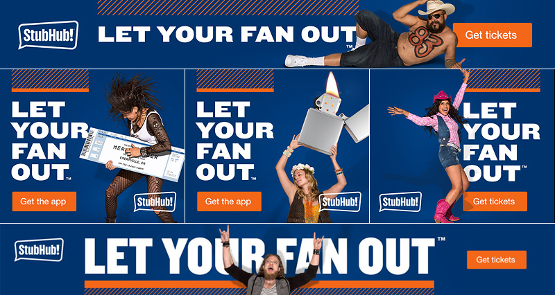 "StubHub ""Let Your Fan Out"" Campaign 2015"