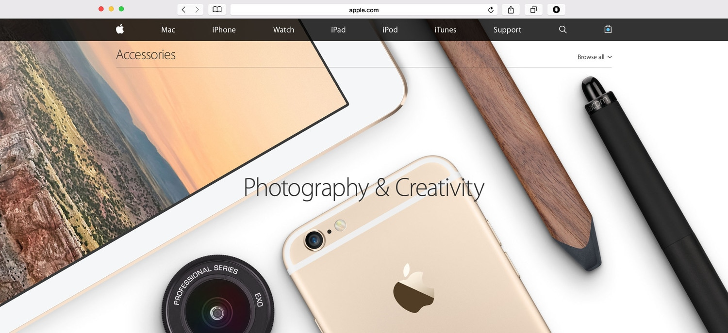 Apple Accessories photography art direction