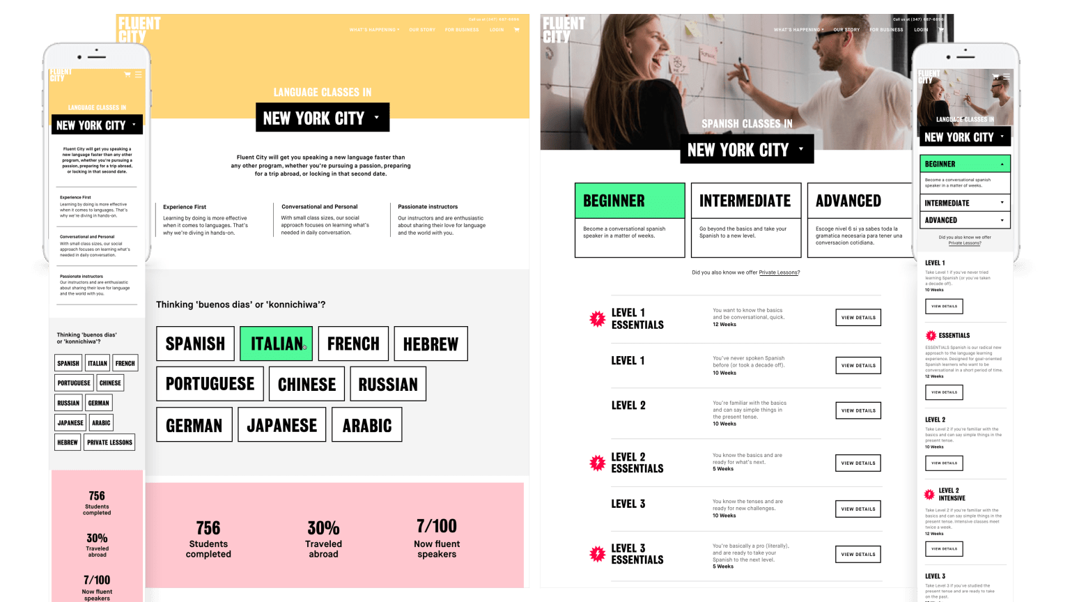 Fluent City Website Design