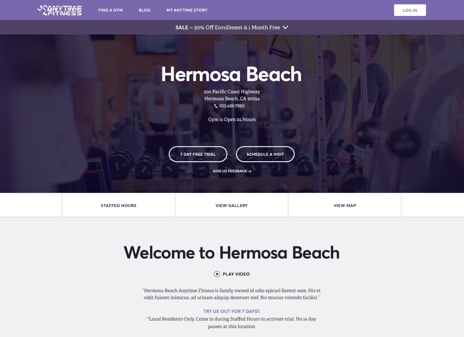 Anytime Fitness Website Redesign