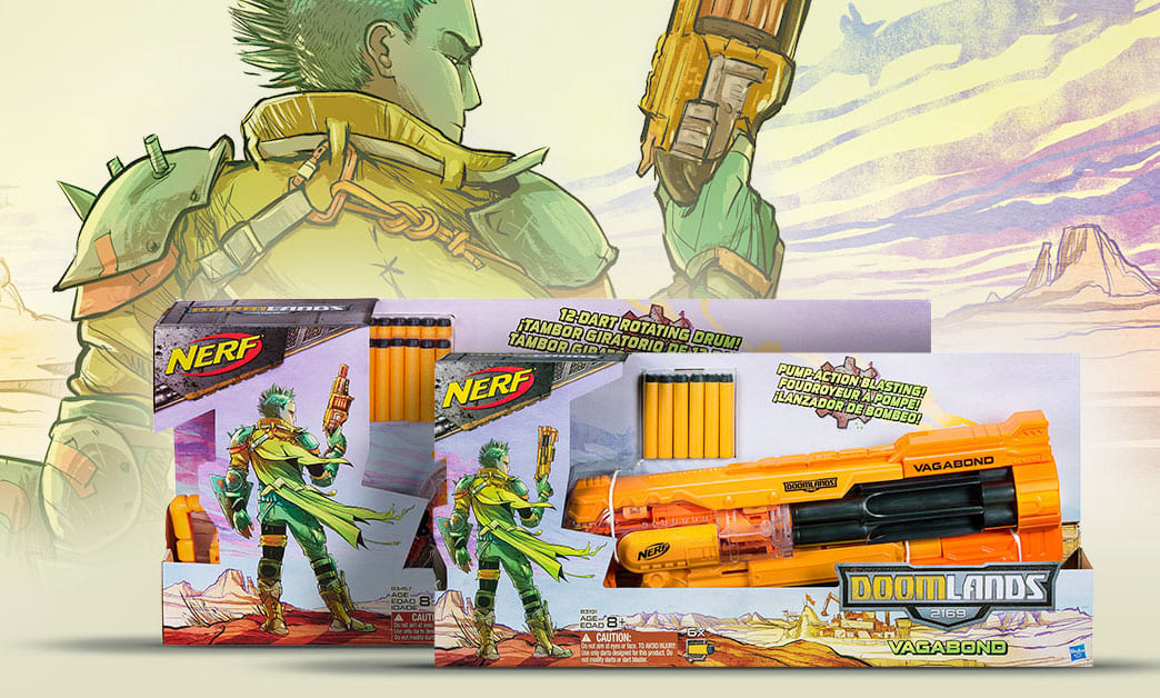 Nerf Doomlands Packaging art
