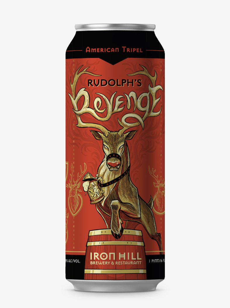 Iron Hill beer can design