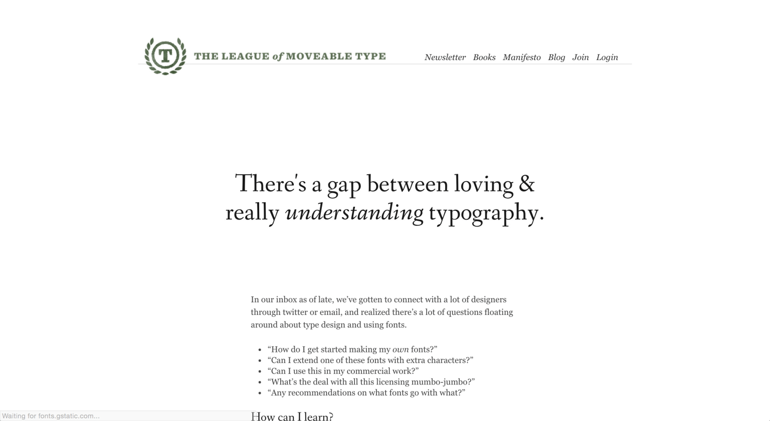 The League of Moveable Type