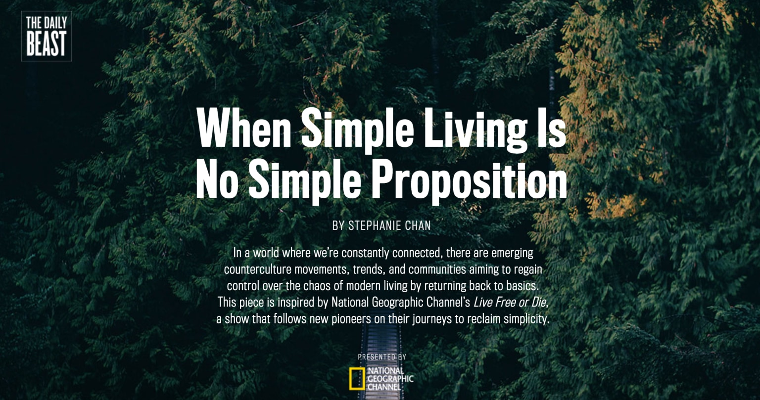 When Simple Living Is No Simple Proposition