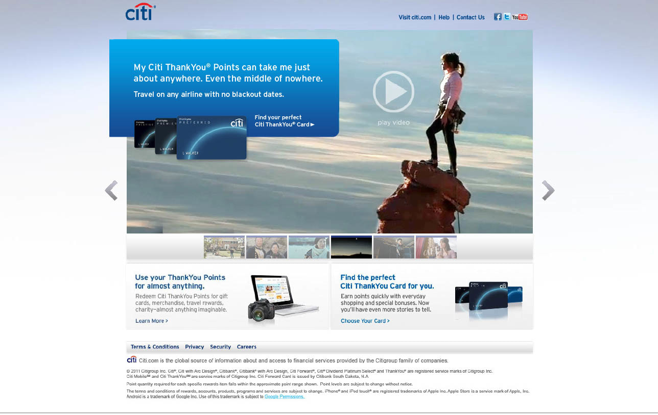Citibank Thank You Points Campaign