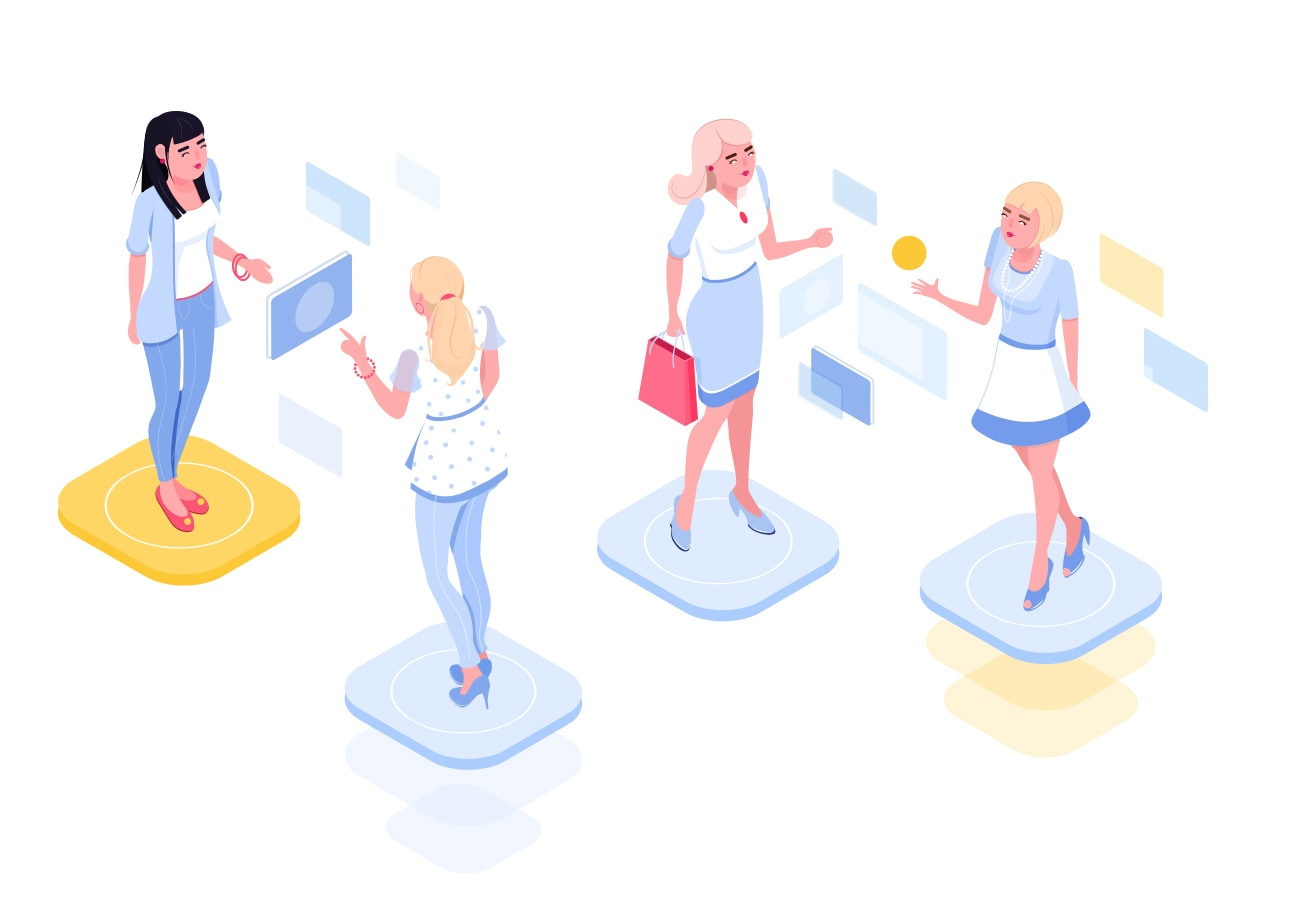 Isometric vector humans