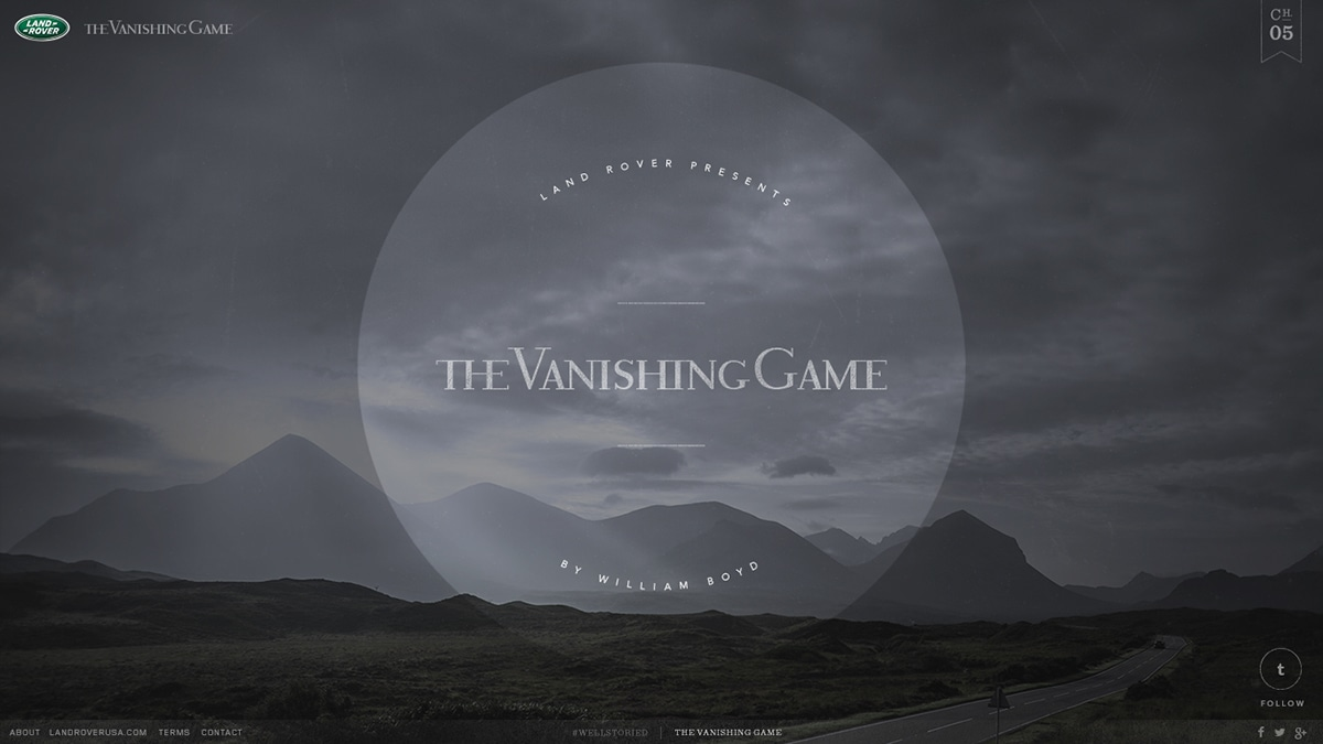 Land Rover's: The Vanishing Game