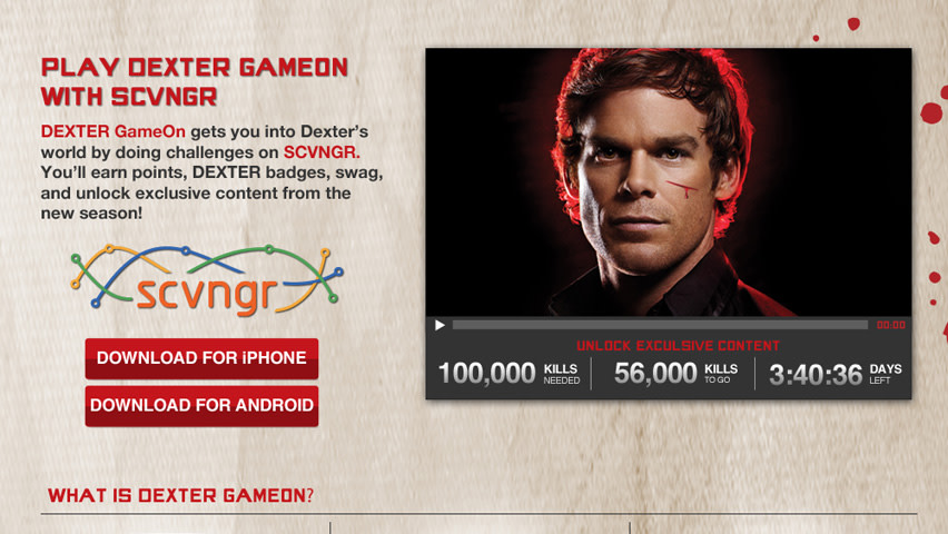 Showtime's Dexter Alternate Reality Game - ARG