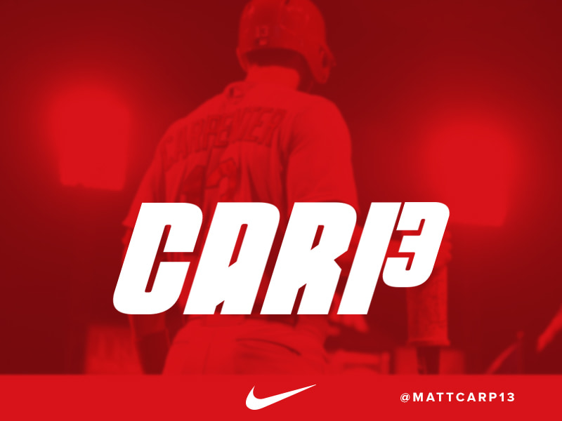 Matt Carpenter Logo - Nike Baseball