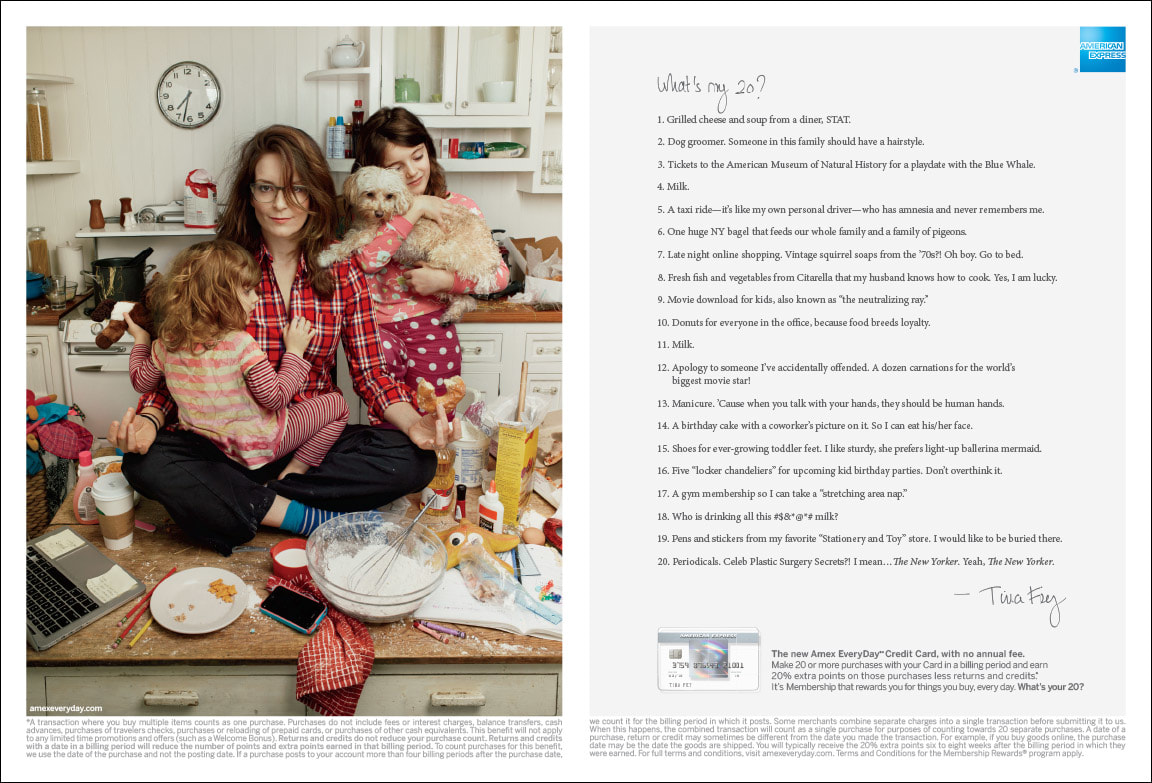 American Express Tina Fey Print Photographed by Annie Liebovitz