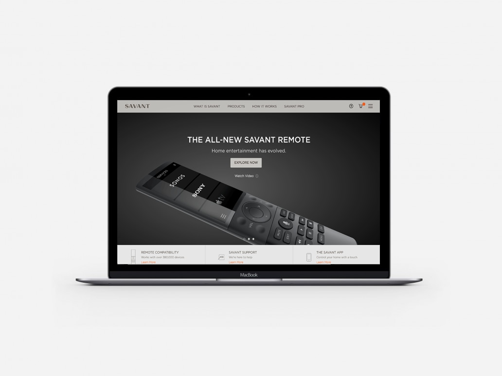 Savant Responsive eCommerce Website