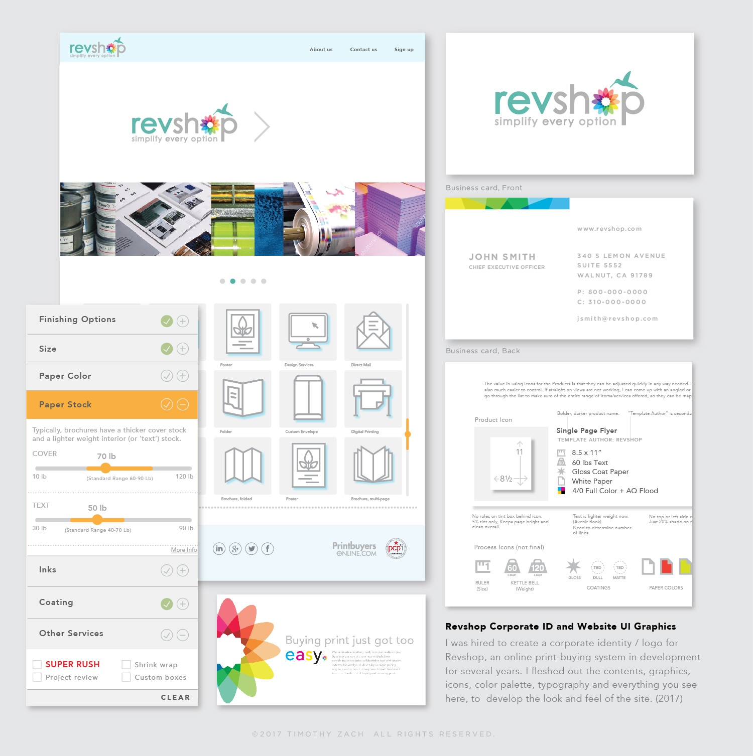 Revshop Corporate ID and Website UI Graphics