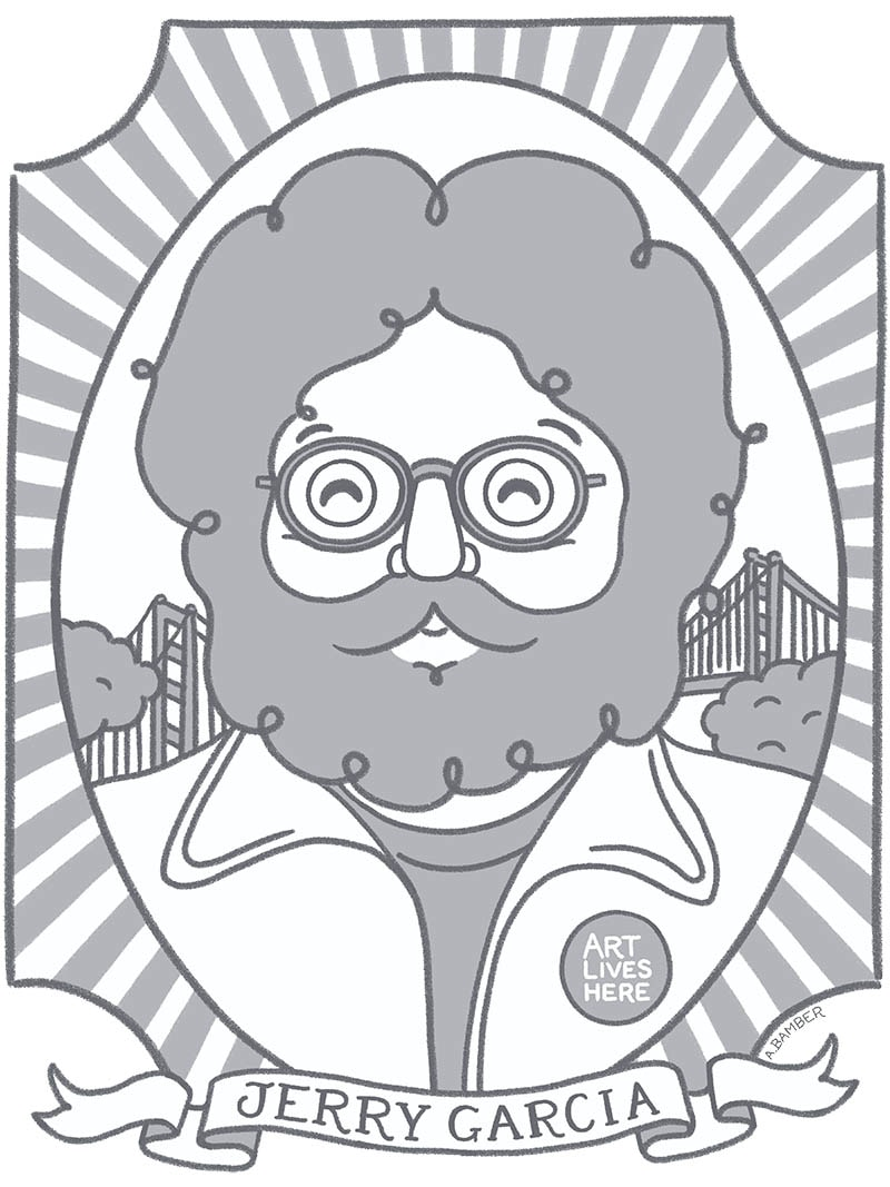 Jerry Garcia Illustration