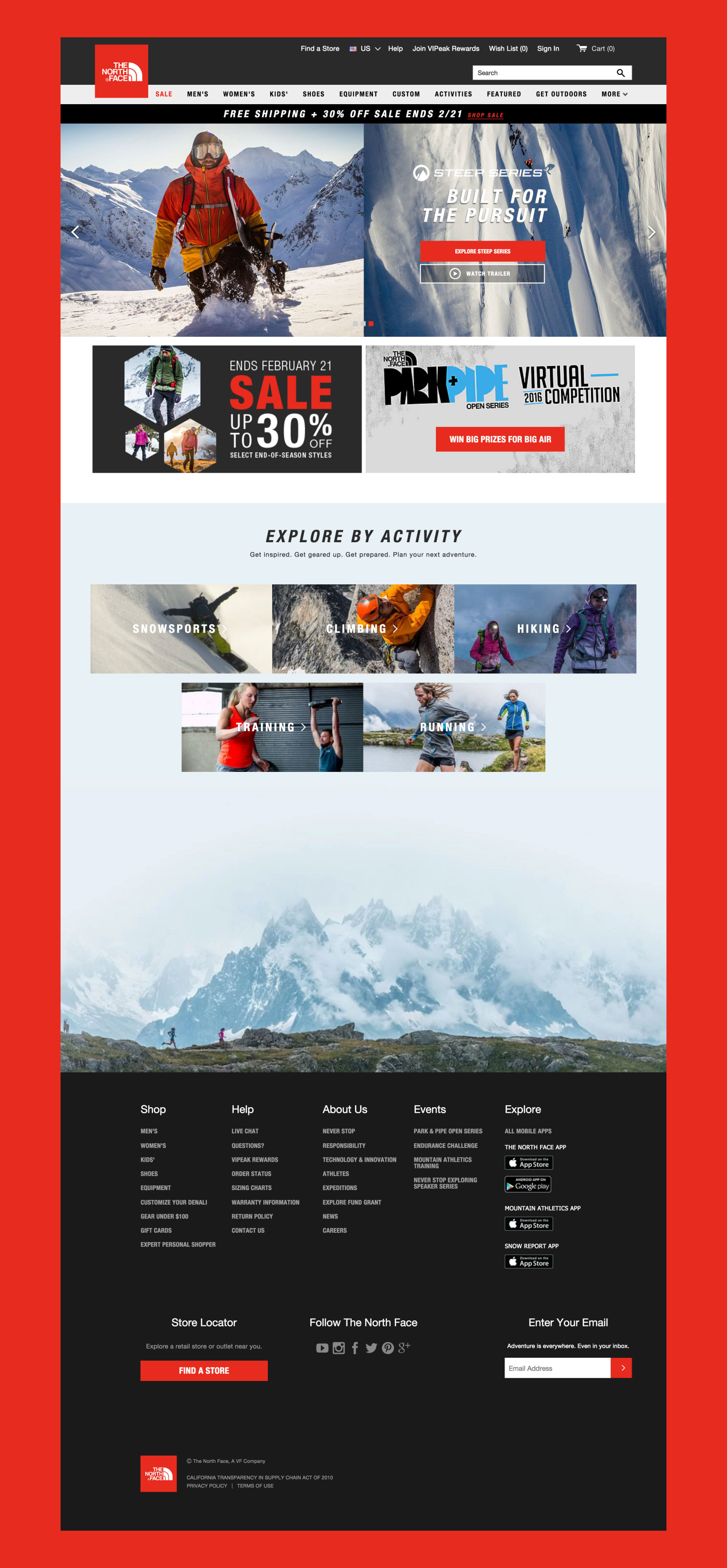 The North Face Website Redesign