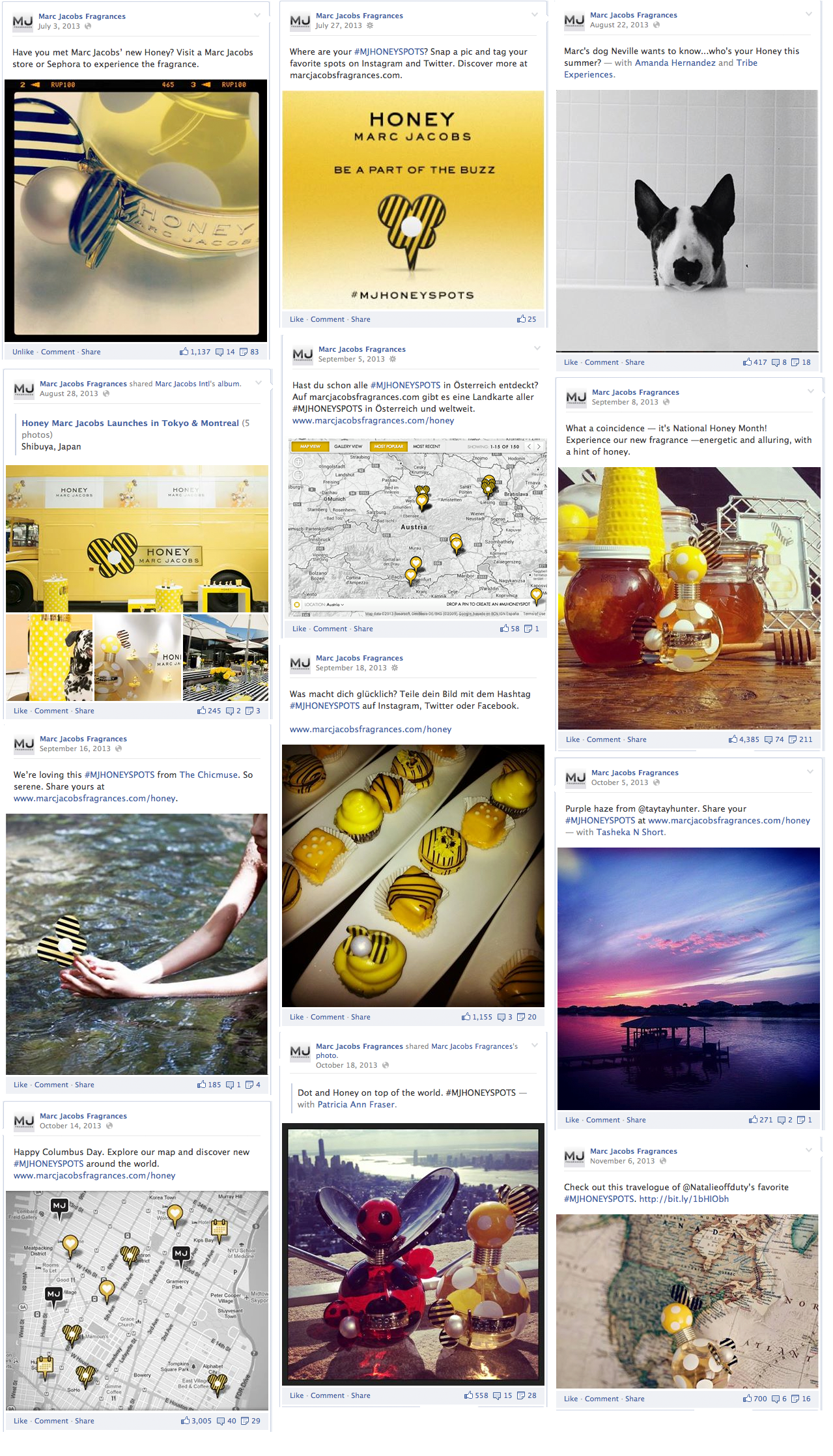 Marc Jacobs Honey Global Social & Experiential Campaign