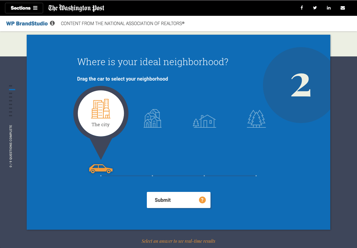Branded Content for Washington Post:  Interactive Poll