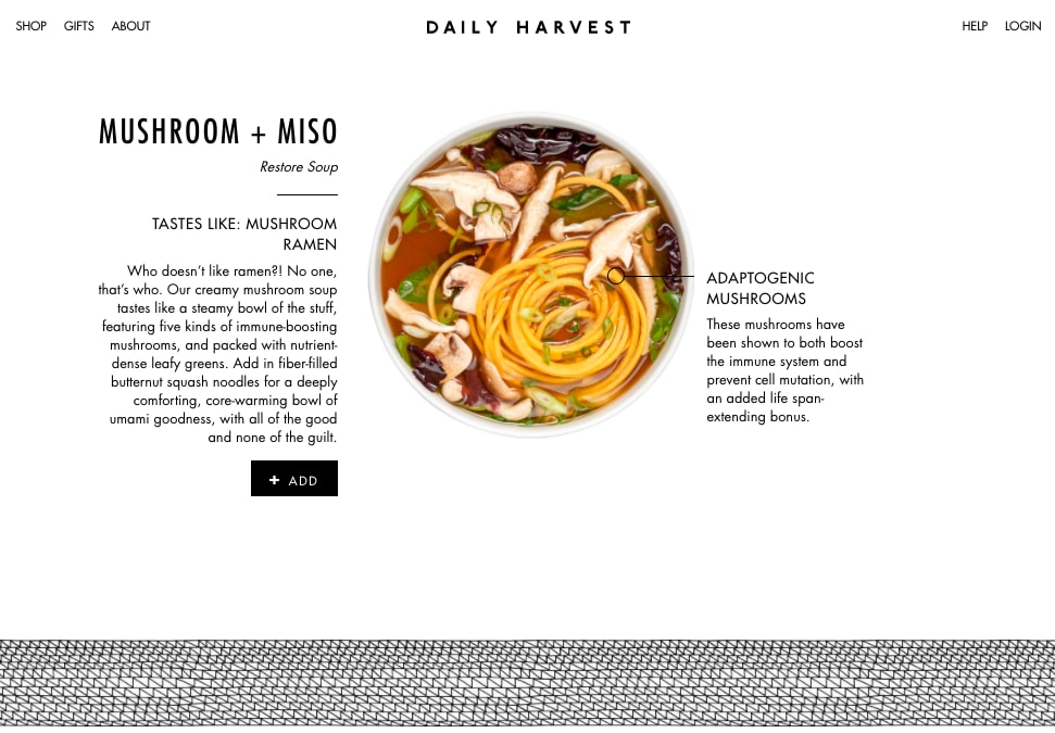 Daily Harvest Site Rebrand