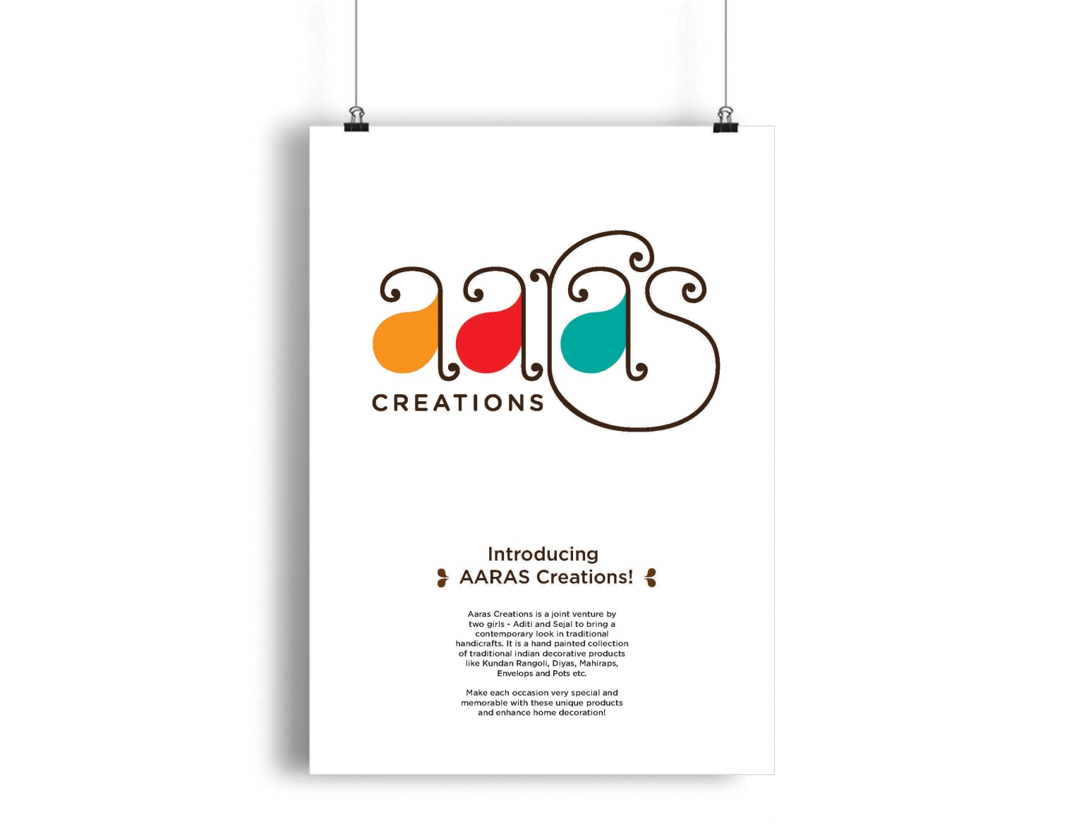 Aaras Creations | Brand Identity and Collaterals