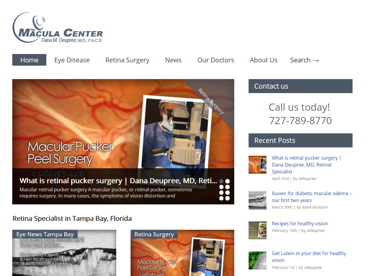 Macula Center Website
