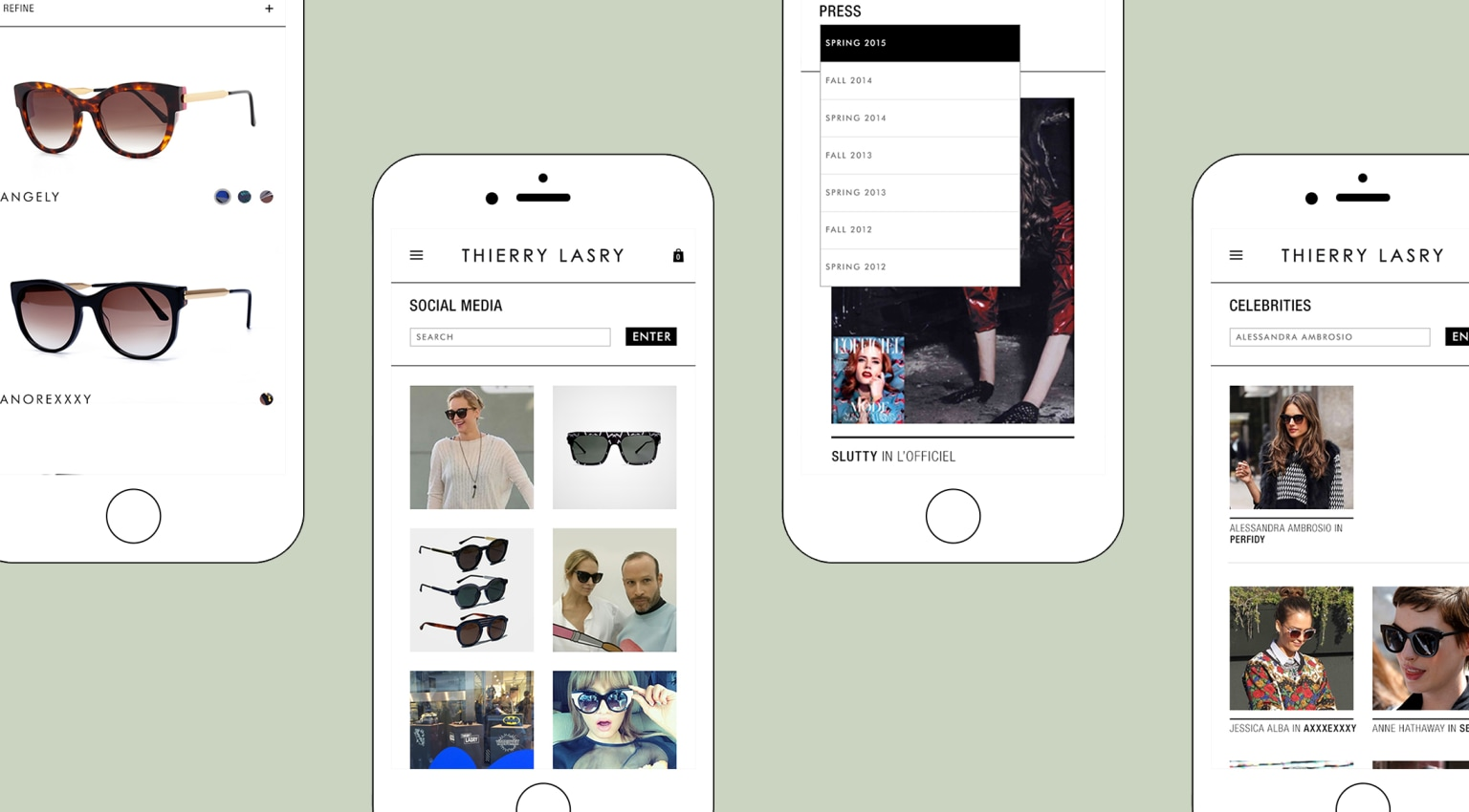 Thierry Lasry: Mobile Website