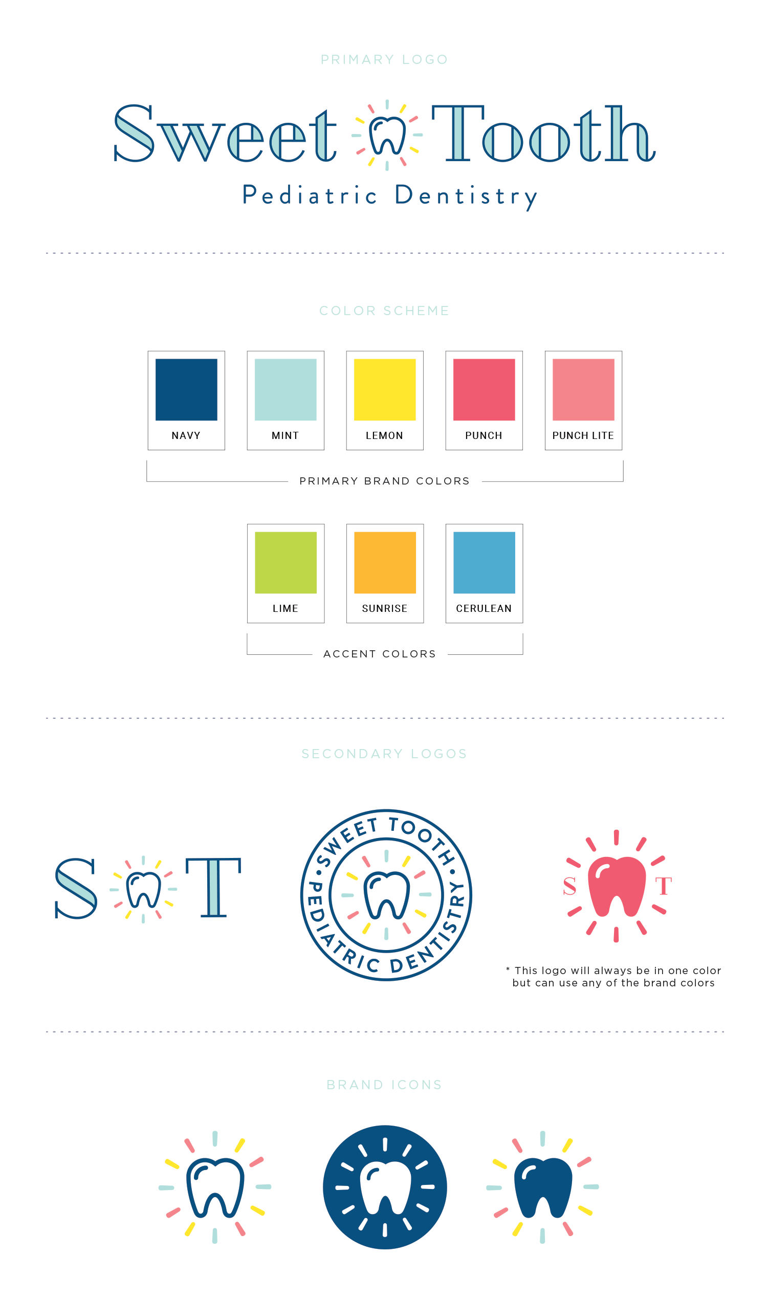 Sweet Tooth Pediatric Dentistry brand design