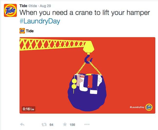 Tide Laundry Day Social Media Posts
