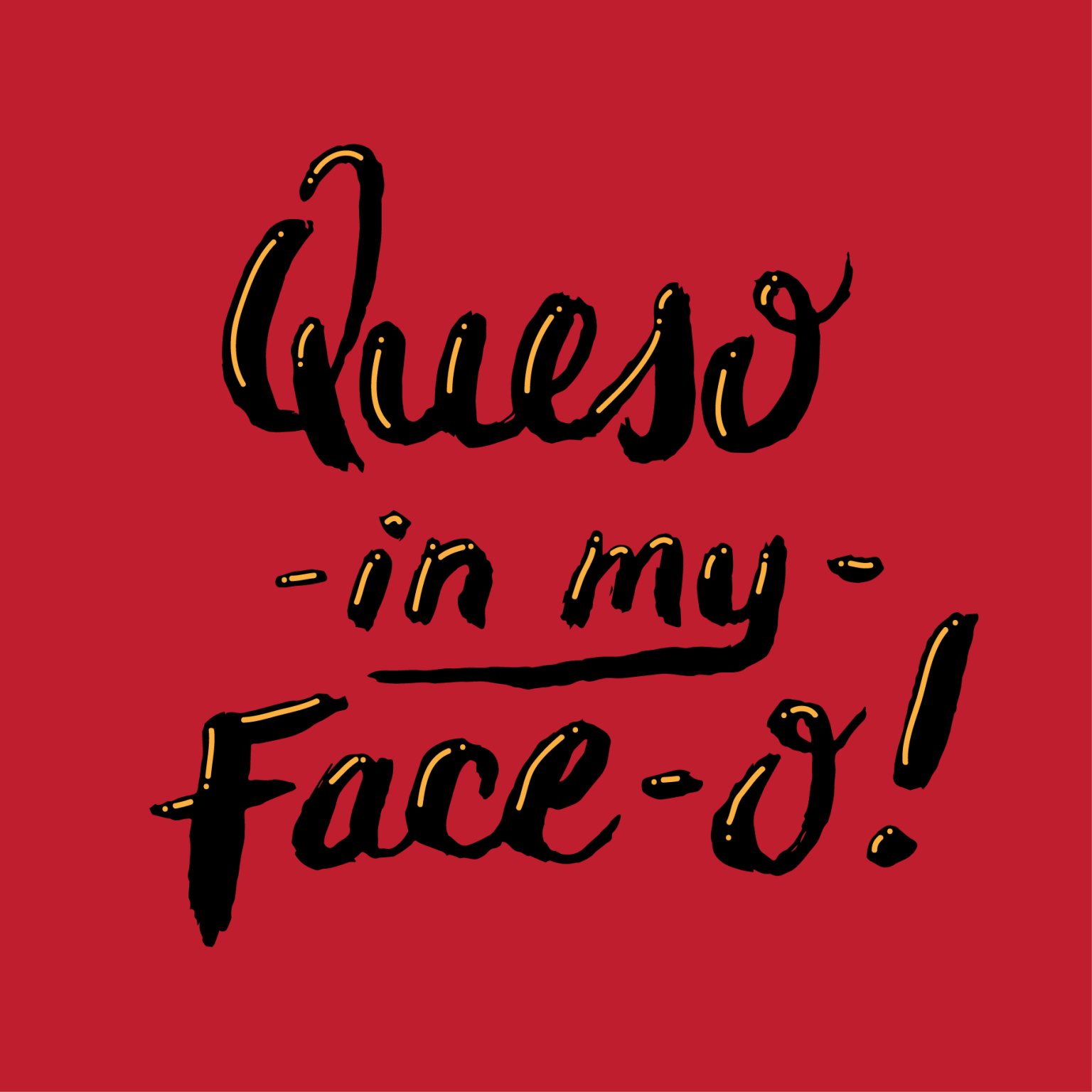Queso hand lettering - editorial illustration