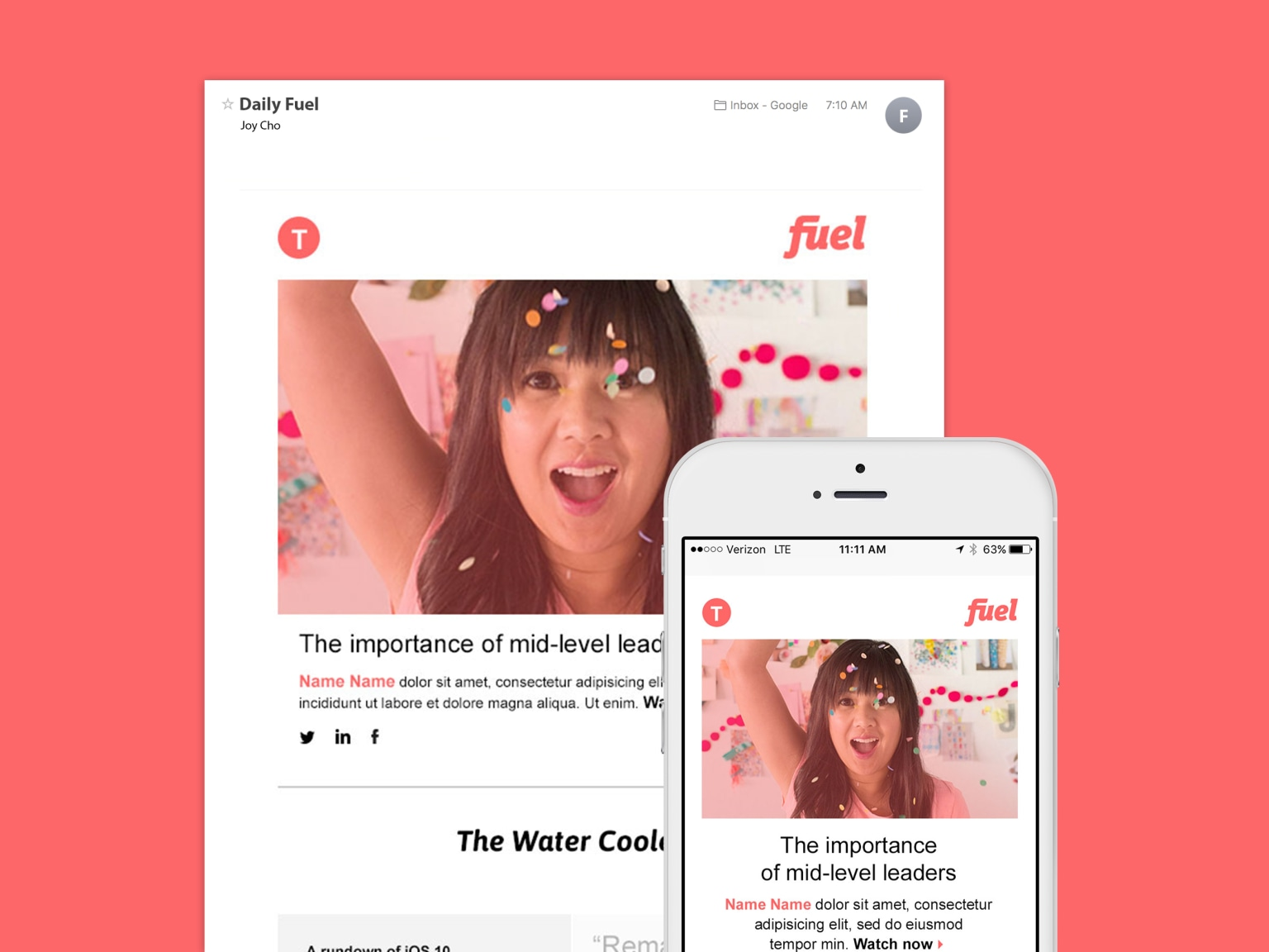 Fuel Website and Email Design