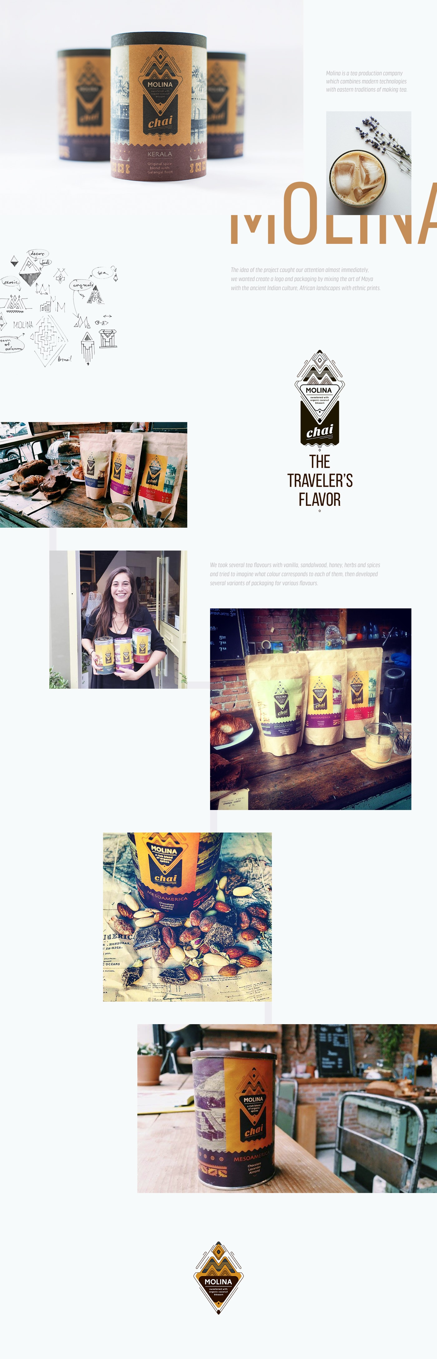 Branding and Packaging Design of Molina Chai.