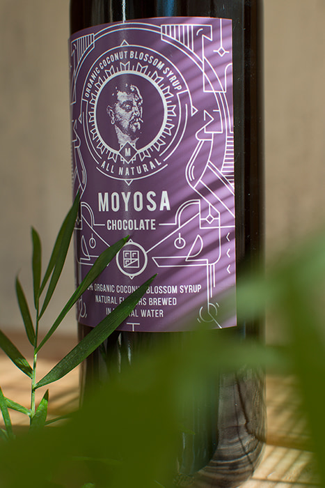 Branding & Label Design for syrup MOYOSA