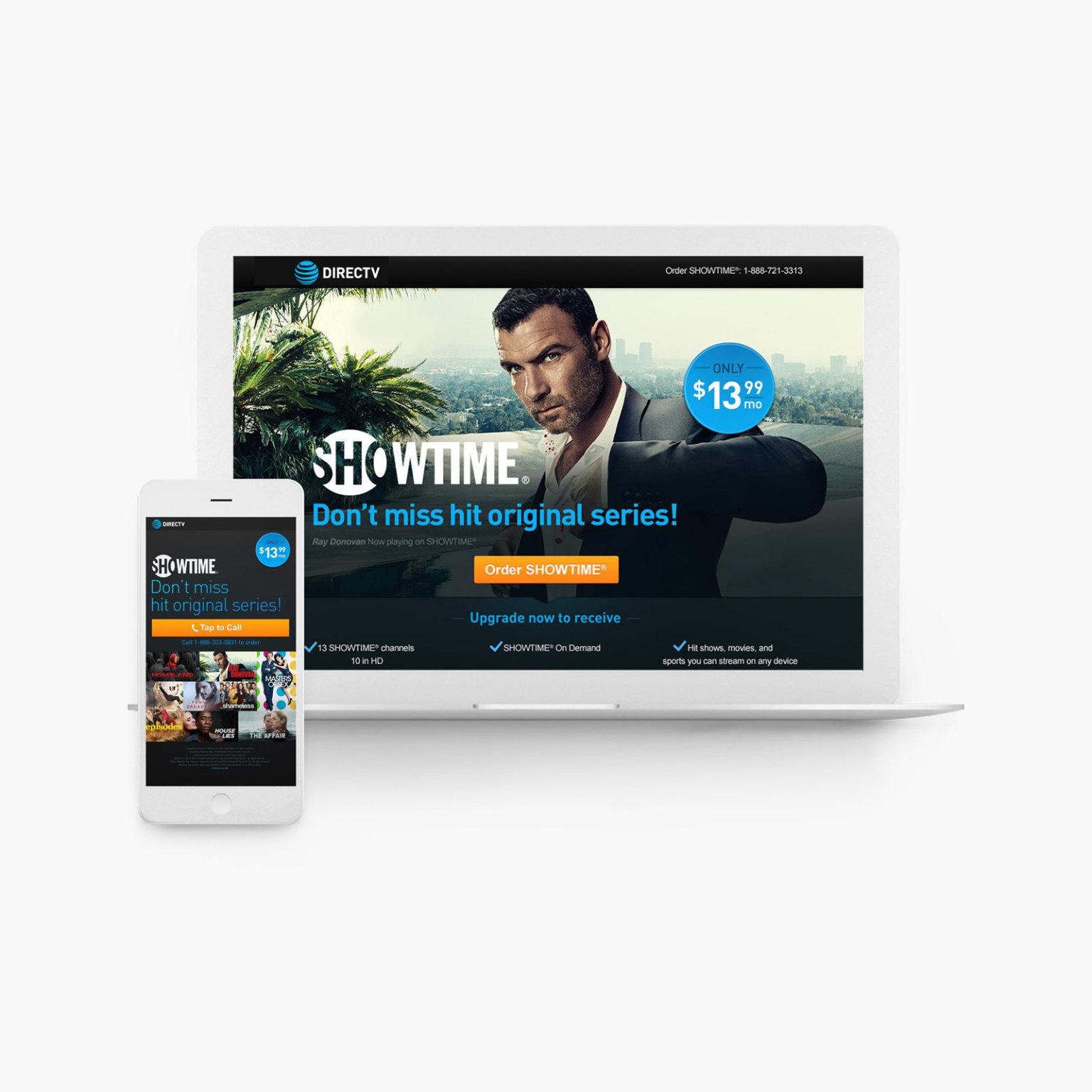 DIRECTV – Premium Network Upgrades – Optimized Landing Pages & Ad Banners